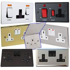 Crabtree Wall Plug Socket Faceplate Cooker Switches Matte Chrome Mixed Styles
