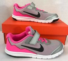 NIB NIKE Flex Experience RN 4 Young Running Athletic Shoes Gray/Pink
