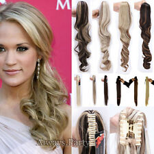 Real Claw Clip In Ponytail Hair Extensions Brown Blonde Real Thick Hairpiece T58