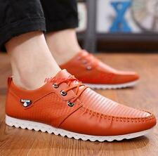 Fashion Mens Casual lace up comfy breathable flat driving loafer shoes