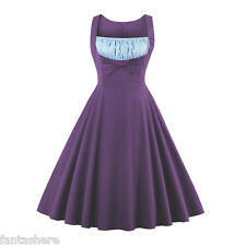 Women 50s Retro Wiggle Flared Dress Vintage Cocktail Evening Party Swing Dress