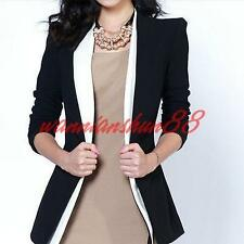 Womens ladies Slim long sleeve Jackets Blazers One Button Suit coats outwear