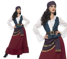 Deluxe Pirate Buccaneer Beauty Costume Ladies Pirates Fancy Dress Outfit S-XL