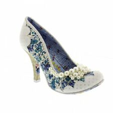 Irregular Choice Pearly Girly - White/Blue Womens Heels