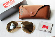 RAY BAN AVIATOR 0RB3025 001/51 Gold Metal Frame Brown Gradient Unisex