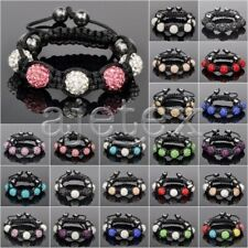 5pcs Crystal Disco Ball Rhinestones Beads Gift Adjustable Bracelet 22 Color