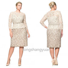 2017 Mother Of The Bride Dresses Custom Lace Applique Formal Gowns Plus Size