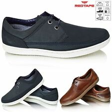 Mens Leather Lace Up Smart Casual Boat Deck Mocassin Loafers Driving Shoes Size