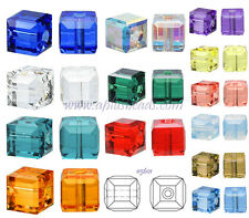 Authentic #5601 Swarovski Crystal 8mm Cube Square Beads pick colors 2pcs SALE