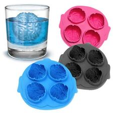 Silicone Brain Shape Ice Freeze Cube Tray Maker Mould Mold Bar Party Drink WB