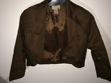 H&M Cropped Brown Jacket - Size 34 (UK 8) Worn Once Excellent Condition