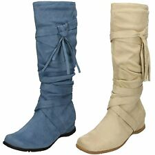 Ladies Spot On Calf High Boots *Hollie*