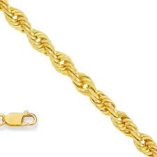 14k Solid Yellow Gold 2mm Rope Chain Necklace 16 18 20 22 24 30