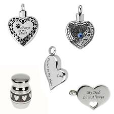 Stainless Cremation Urn Pendant Necklace Keepsake Jewelry Ash Holder+Funnel