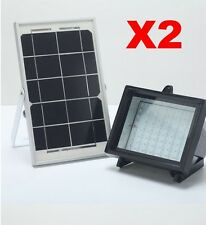 Bizlander 2 Pack 5W60LED Solar Flood Light Outdoor Camping Farm Garden signage