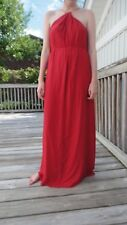 ZARA NWT MAXI LONG DRESS WITH CHAIN NECKLINE SIDE SLITS SIZ XS S, NWT