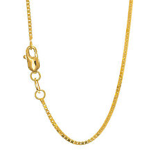 "10k Solid Yellow Gold 1.4 mm Box Chain Necklace 18"" 20"" 22"" 24"""
