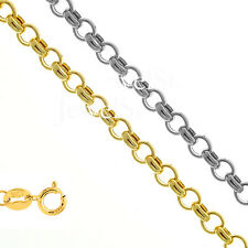 "10k Hollow Yellow Or White Gold 1.9mm Rolo Chain Necklace 10"" 16"" 18"" 20"""
