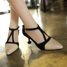 New Hot Womens Pumps Court Party Shoes Mid Heel Dress Casual Shoes All US Size