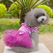 Dog Cat Bow Tutu Dress Lace Skirt Pet Puppy Dog Princess Costume Clothes Dress