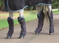 NEW Shires ARMA Shaped Shock Absorbing Travel Horse Boots Set of 4 - Navy/Blue