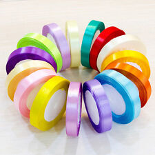 25YD Satin Ribbon 10mm Width Roll Bow Wedding Party DIY Craft Decoration Fabric