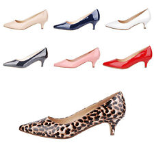 Verocara Women's Pointed Toe Kitten Heel Manmade Patent Leather Dress Pump Shoes