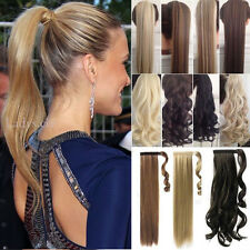 Wrap Around Ponytail Clip In Hair Extension Real Long as Human Made Pony Tail TD