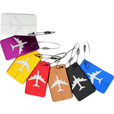 1PC Aluminium Luggage Tags Travel Suitcase Label Name Address ID Bag Baggage Tag