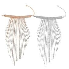 Fringe Statement Gold/Silver Tone Chain Long Fashion Choker Bib Tassel Necklace