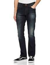 Firetrap Mens Fashion Jeans Straight Regular Fit Vintage Dark Wash 03 Blue Denim