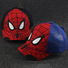 Kids Boy Spiderman Adjustable Baseball Cap Snapback Hip-hop Summer Sport Sun Hat