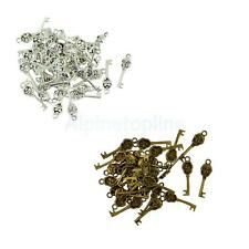 50Pcs 32 x 9mm Vintage Key Skull Design Charms for Jewelry DIY Necklace Pendant