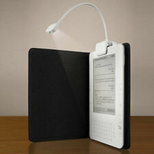 WHITE/BLACK LED CLIP-ON READING LIGHT LAMP FOR AMAZON KINDLE READING BOOK