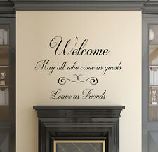 Wall Decal Guests Leave As Friends Quote Decal Welcome Vinyl Lettering aa300