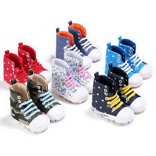 Infant Baby Kids Boys Soft Sole Boots Trainer Casual Pre-Walker Crib Shoes 0-12M