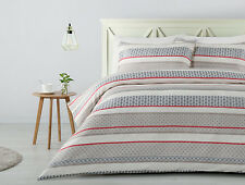 300TC Verona Geometric Ivory Woven Jacquard Quilt Doona Cover Set - QUEEN KING