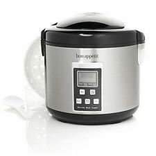 Bon Appetit Slow Cooker with Steamer Basket 10 Cup Digital 5 Function