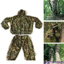 Outdoor Camouflage Camo Ghillie Suit Set 3D Leaf Jungle Forest Sniper Hunting