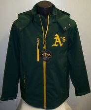 OAKLAND ATHLETICS A's Soft Shell Jacket with Removable Hood GREEN Size: MED, LG
