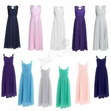 Flower Girl Lace Bridesmaid Formal Party Princess Prom Wedding Christening Dress