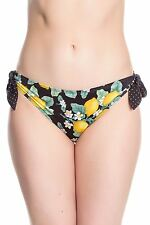 Hell Bunny Lemonade Bikini Bottoms Vintage Pin Up Swimwear