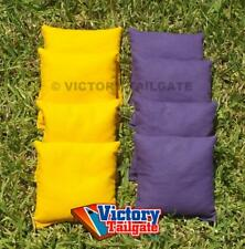 """8 All Weather Regulation 6""""x6"""" Duck Cloth Cornhole Bags (choose your colors)"""