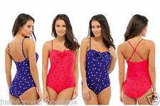 Ladies Swimming Costume Bathing Swimsuit One Piece Bandeau Multi way Straps