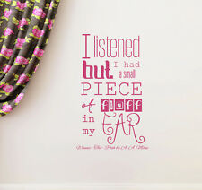 Winnie the Pooh Wall Decal I Listened But I Had Quote Decal Vinyl Sticker aa233