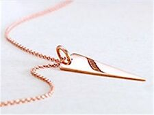 Hot! TRIANGLE Pendant,14kt Rose,Yellow, White Gold & Vermeil or Sterling VIDEO!