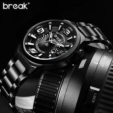 Luminous Stainless Steel Mens Watch Luxury Military Sports Quartz Casual Gift