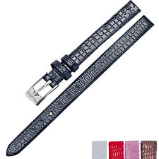 New 8mm Ladies Womens Leather Stainless Steel Buckle Thin Watch Strap Watch Band