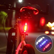 Portable 5 LED USB MTB Bike Tail Light Safety Warning Bicycle Rear Lamp Cycling