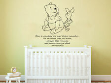 Winnie the Pooh Wall Decal Quote Vinyl Sticker Nursery Baby Room Decor ZX208